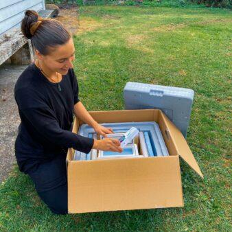 Medicine shipment in EPS packaging